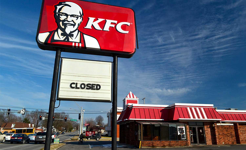 KFC chiude 750 fast food