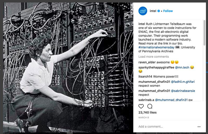 Social Media Storytelling Aziendale: Intel