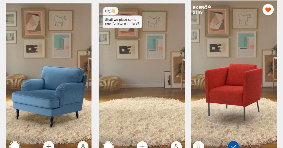 Realtà aumentata App Ikea Amazon