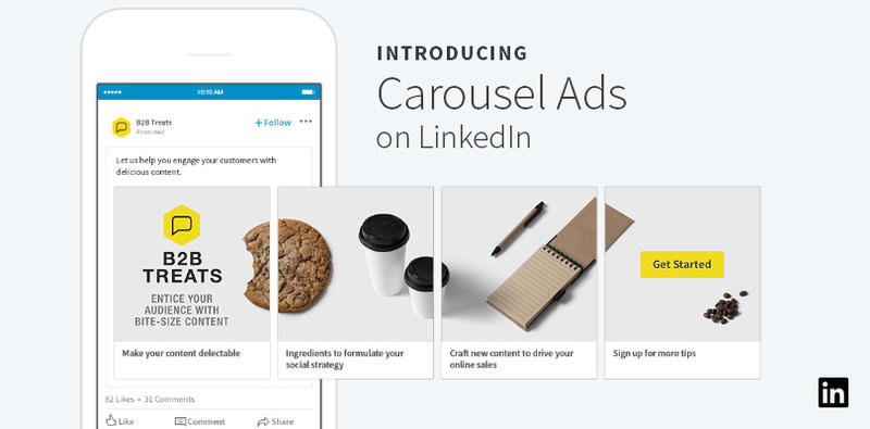 Annunci Carosello LinkedIn Ads